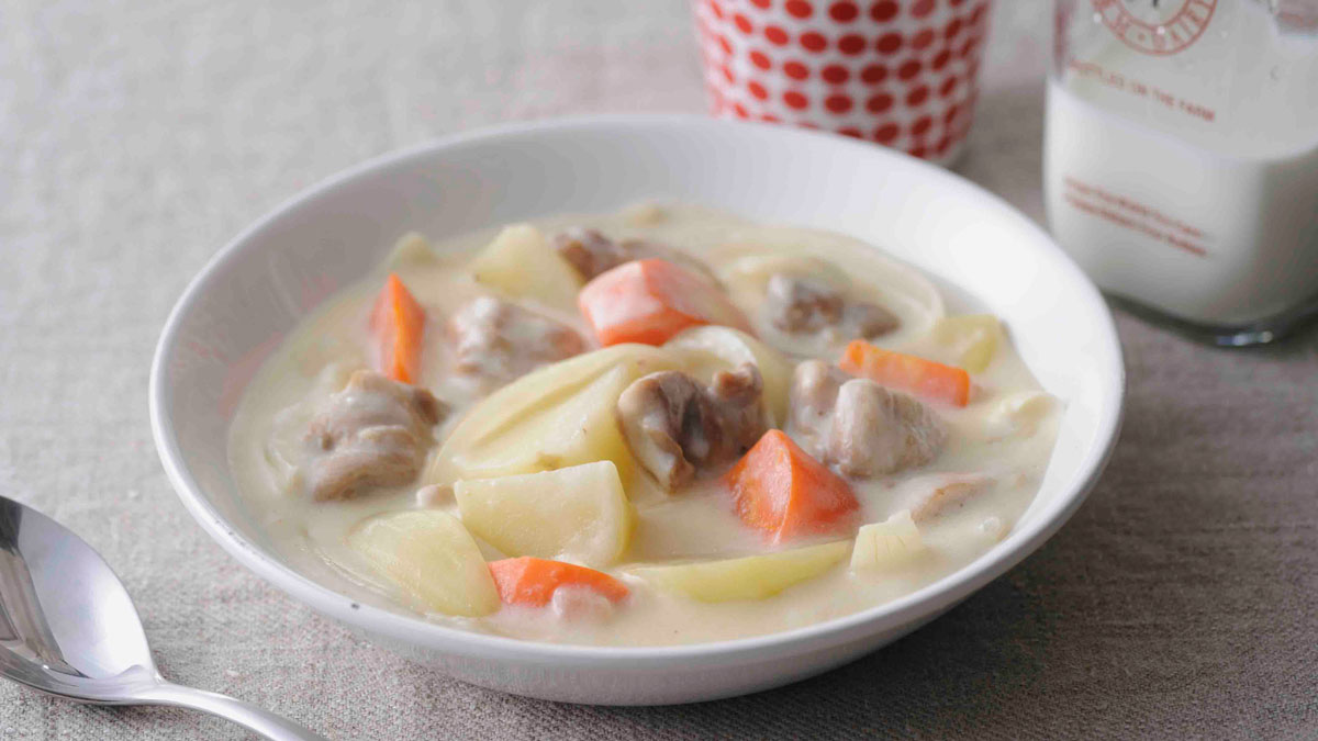 Cream stew top