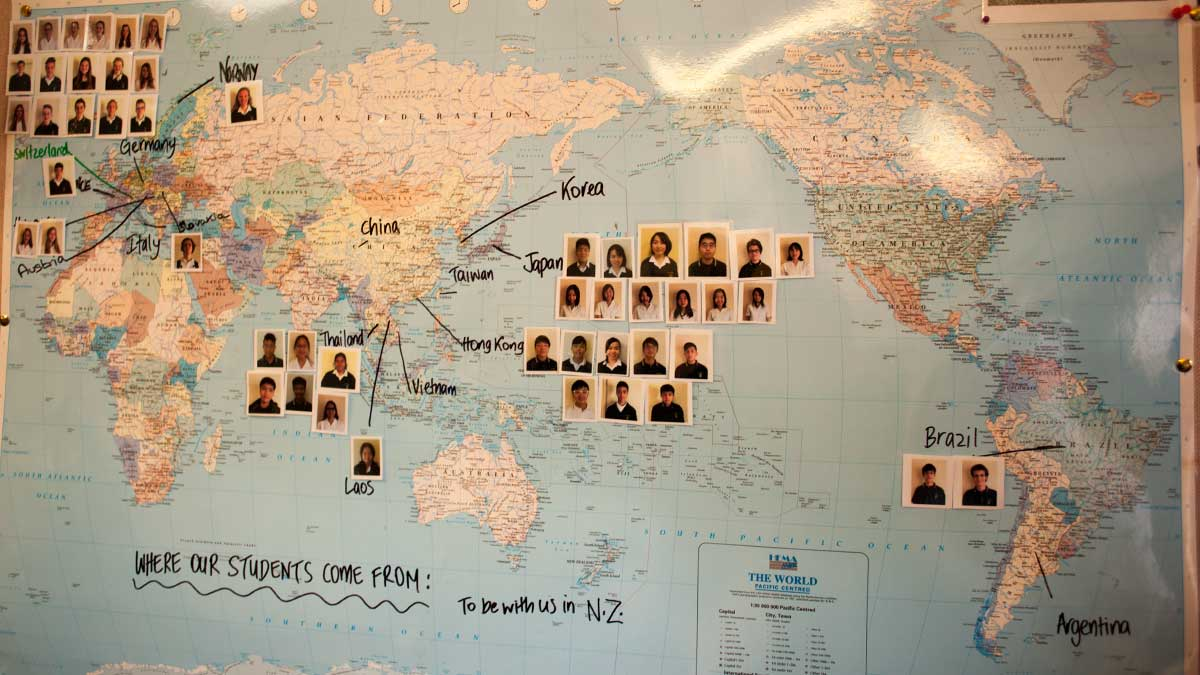 ニュージーランド留学おススメ学校|WAIMEA COLLEGE 留学生国籍比率