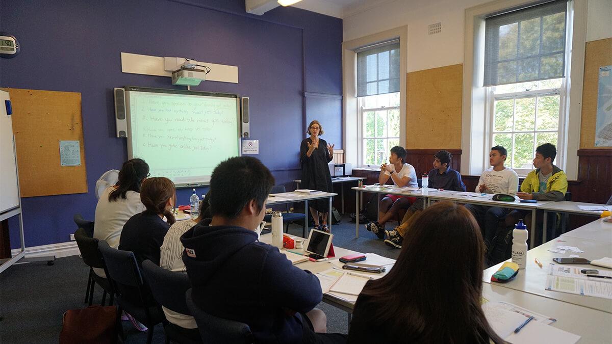ニュージーランド留学おススメ学校|KAPLAN授業風景